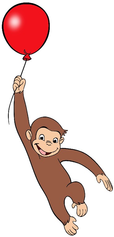Clip Art Curious George Clip Art curious george clip art images cartoon hanging from floating balloon