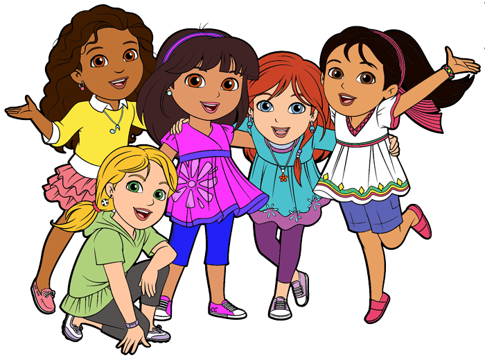 dora and friends clipart cartoon clip art