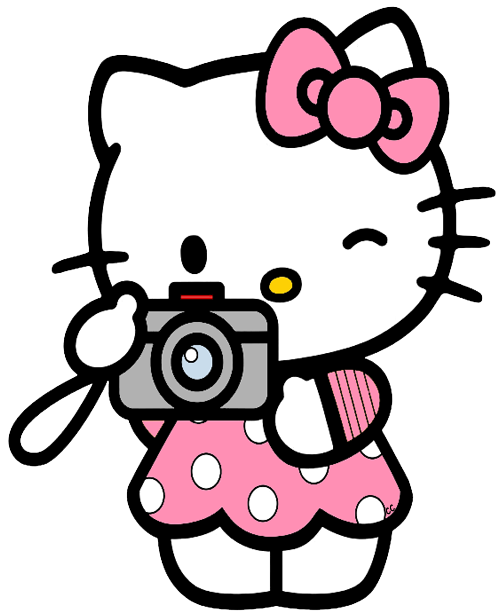 Clip Art Hello Kitty Clip Art hello kitty clip art images cartoon taking picture with camera