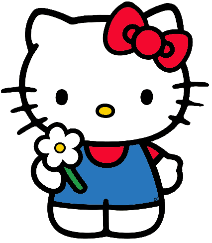 Clip Art Hello Kitty Clip Art hello kitty clip art images cartoon holding flower