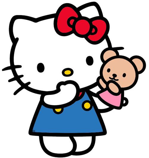 Hello kitty cute. Clip art cartoon