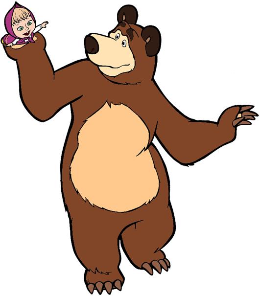 masha and the bear clip art cartoon clip art rh cartoon clipart co bear clipart for kids bear clipart pinterest
