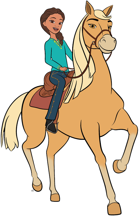 how to draw spirit riding free