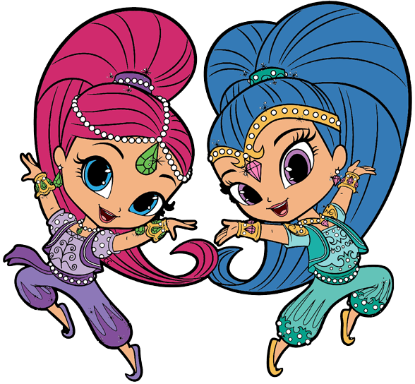Shimmer And Shine Clipart Cartoon Clip Art