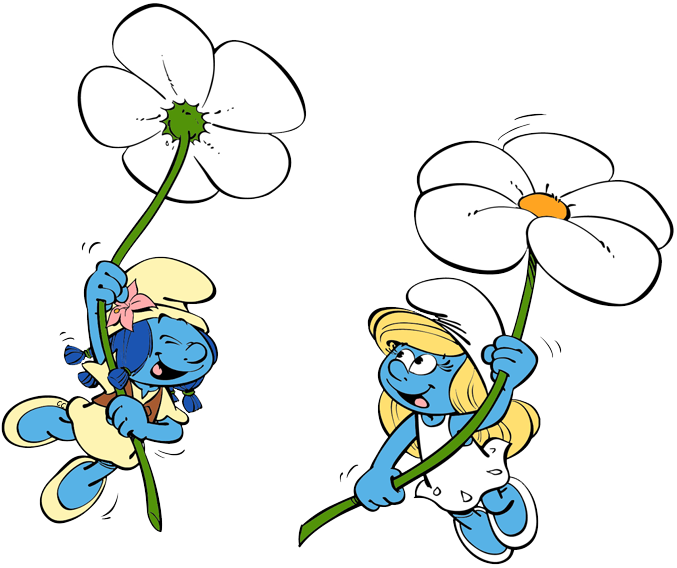coloring pages smurfs lost village