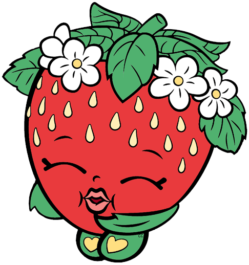 Shopkins apple blossom. Clip art cartoon