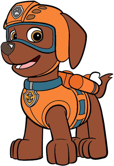 Paw patrol rubble. Clip art cartoon